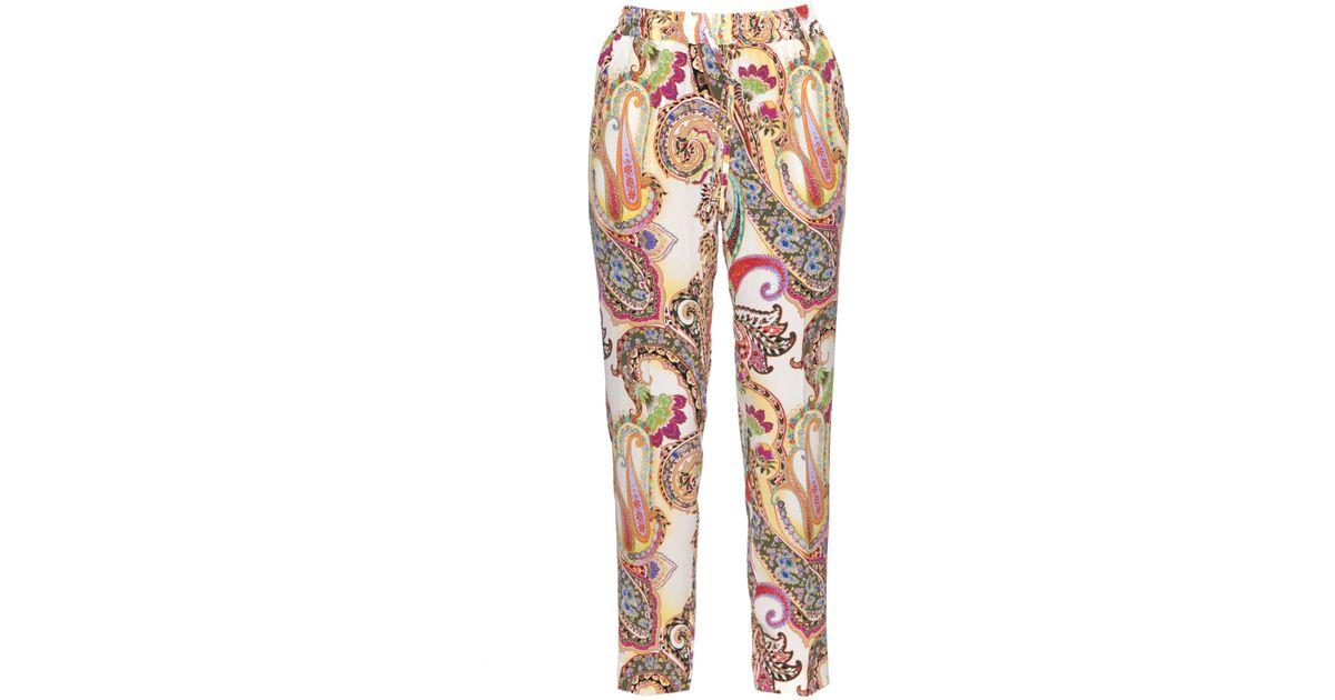 floral paisley print cropped trousers - Multicolour Blugirl Clearance Perfect V3Eur9y0rm