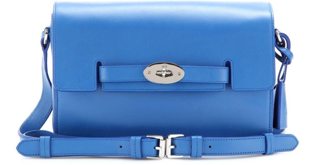 Lyst - Mulberry Bayswater Leather Shoulder Bag in Blue ddd7bccafd110
