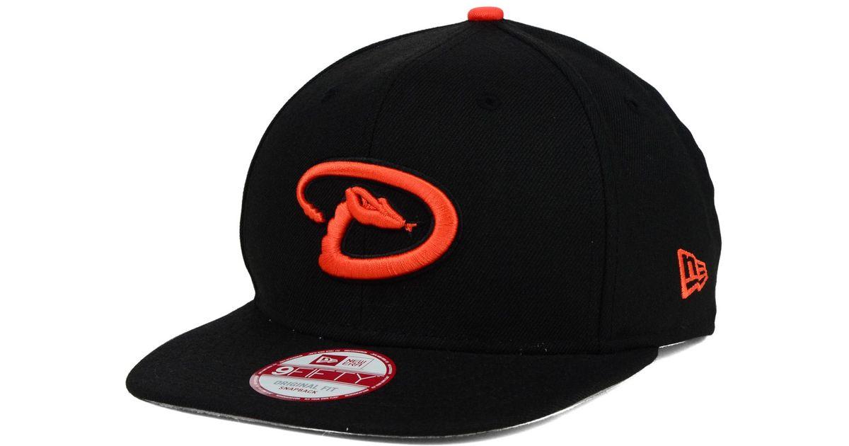 online retailer 0f8a2 fbd26 Lyst - KTZ Arizona Diamondbacks Twisted Original Fit 9fifty Snapback Cap in  Black for Men