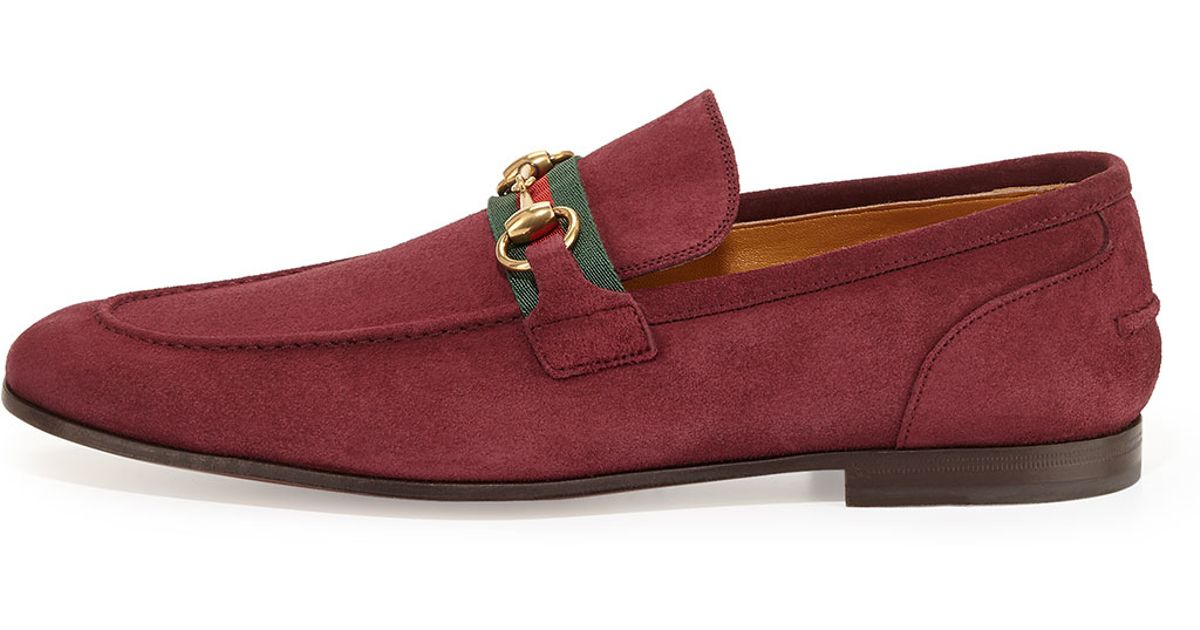bf24bb83638 Gucci Suede Horsebit Loafers