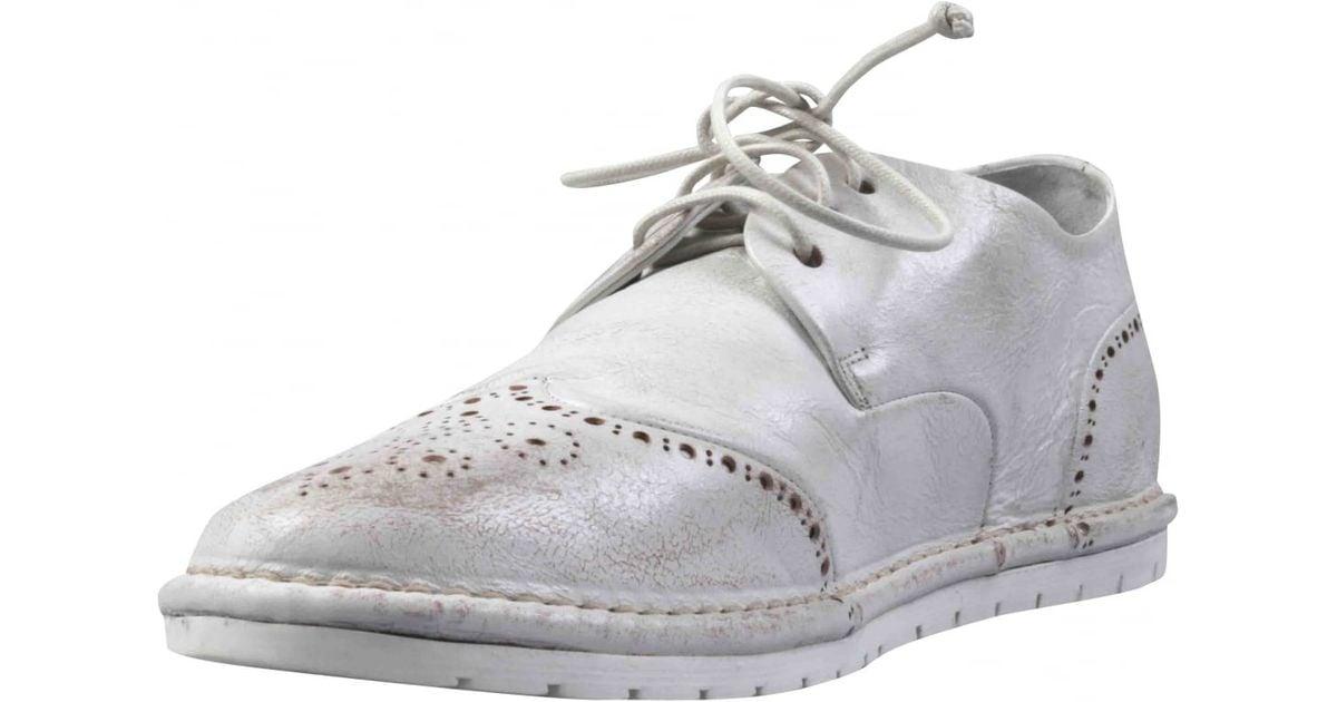 mars 232 ll white shabby wingtip mens shoes in white for