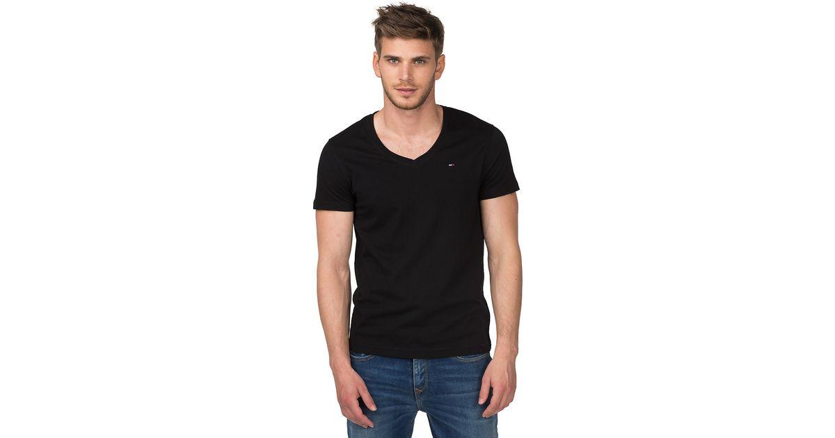 f20430532 Tommy Hilfiger Panson V-neck T-shirt in Black for Men - Lyst