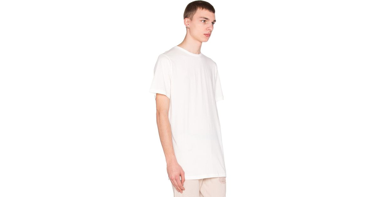 Lyst - Stampd Elongated Tee in White for Men 13fc73df5145