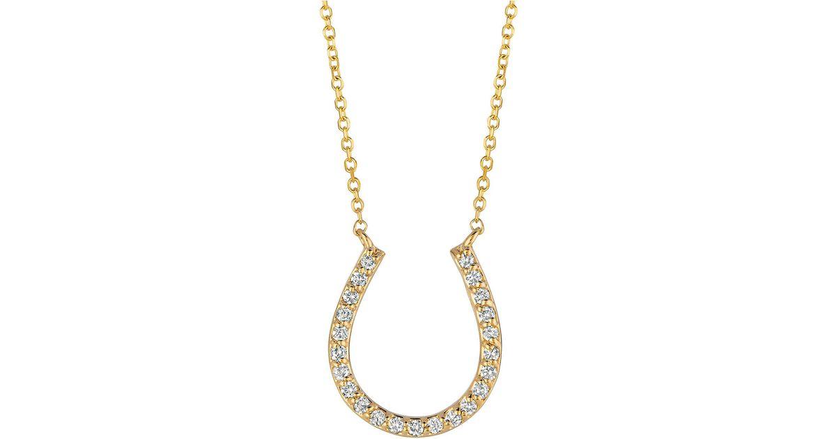 Lyst morris david diamond and 14k yellow gold horseshoe pendant lyst morris david diamond and 14k yellow gold horseshoe pendant necklace in yellow aloadofball Choice Image