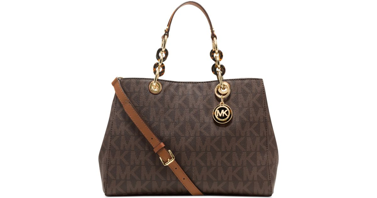 Michael Kors Cindy Laukku : Michael kors cynthia signature medium satchel in