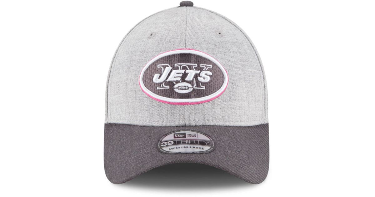 94c4b1229 ... england patriots olive cuffed knit d5ec9 shopping discount lyst ktz new  york jets breast cancer awareness 39thirty cap in gray 3b705 86d10 ...