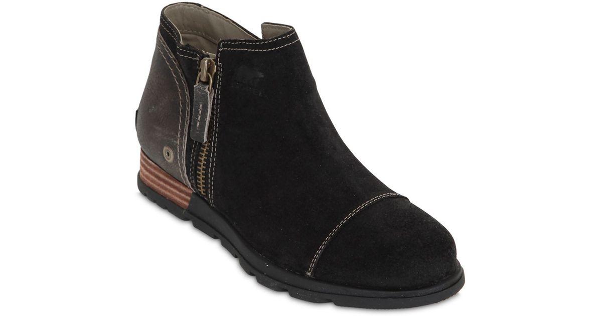 Lyst - Sorel Major Low Premium Suede Ankle Boots in Black 9708c04fb5e