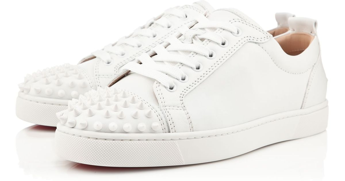 b43168e778d Lyst - Christian Louboutin Louis Spike-embellished Trainers in White for Men