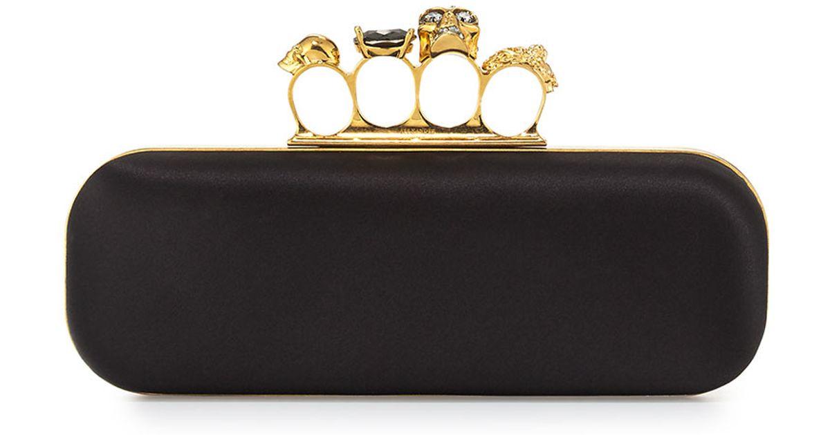 embellished skull clutch bag - Black Alexander McQueen hfqyg