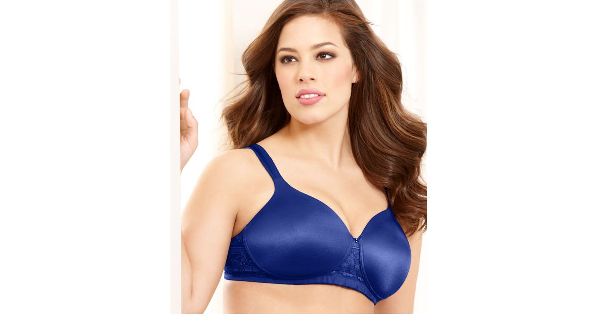7cab0e1df Lyst - Vanity Fair Full Figure Age Defying Lift Wireless Bra 71371 in Blue