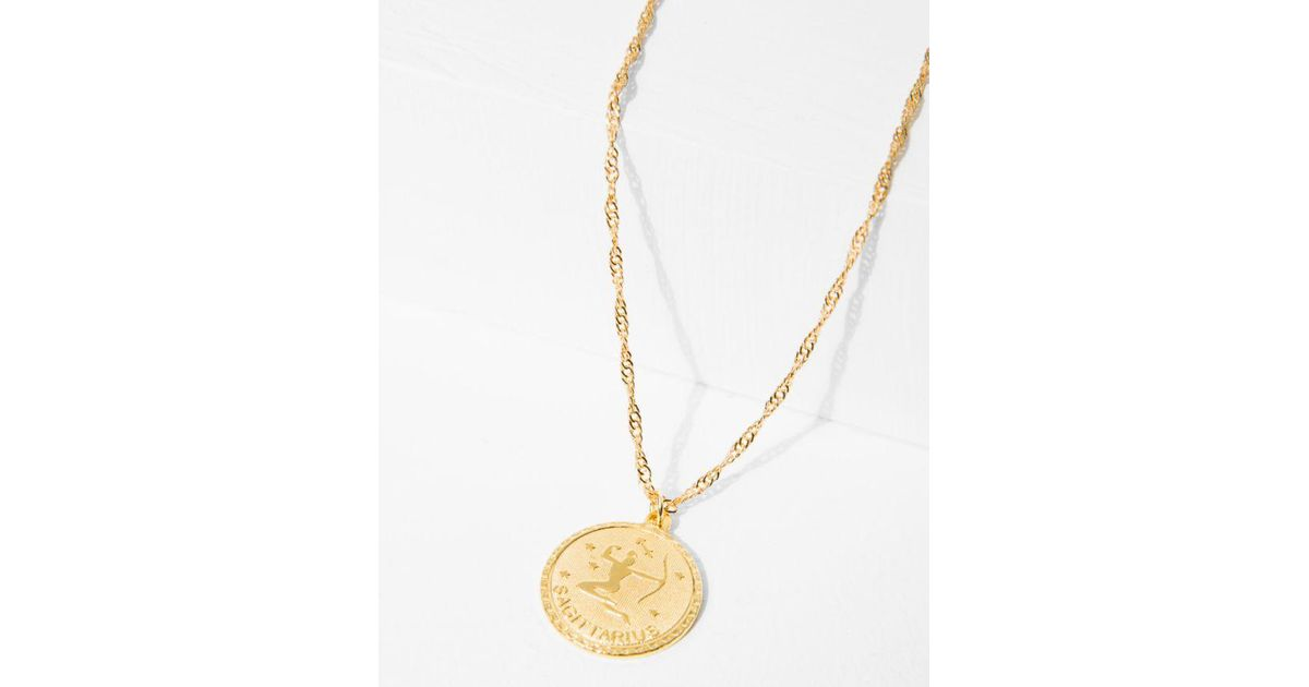 7 For All Mankind Cam Capricorn Necklace In Gold cP7wN5V9