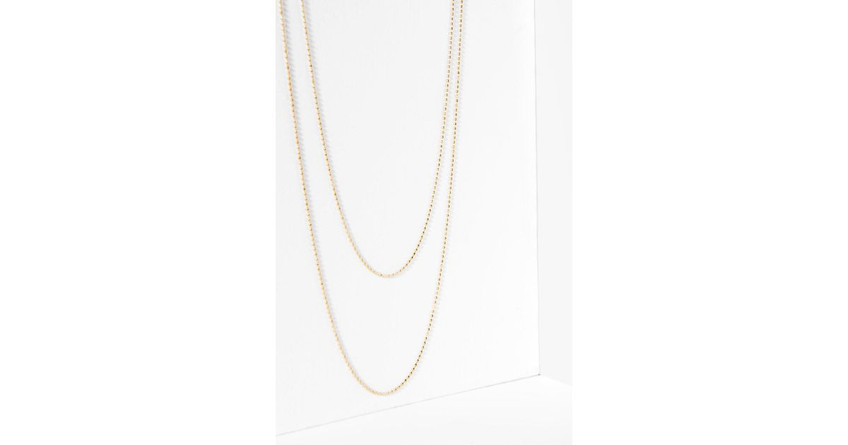 7 For All Mankind Five And Two Camille Necklace In Gold ityUo
