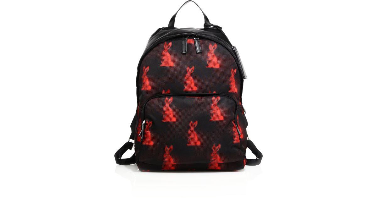 Prada Zaino Backpack in Red for Men (black-red)   Lyst