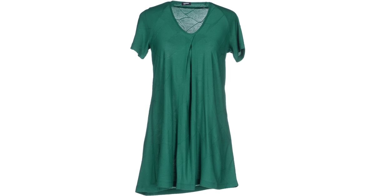 Jil sander navy t shirt in green lyst Emerald green mens dress shirt