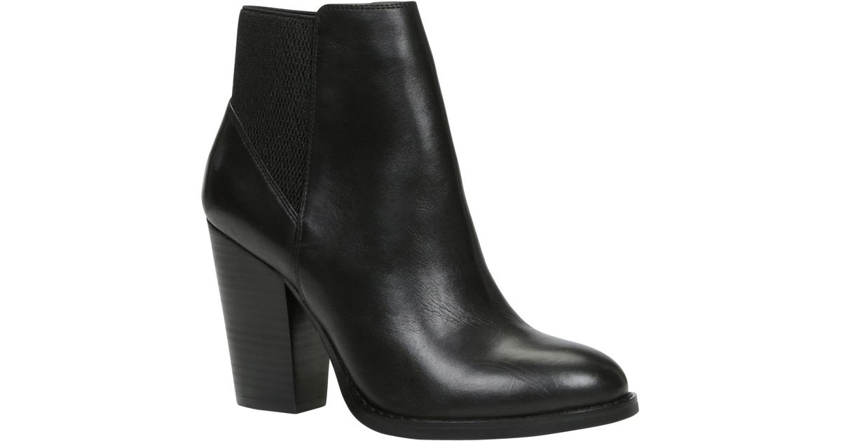 aldo elidia leather ankle boots in black lyst
