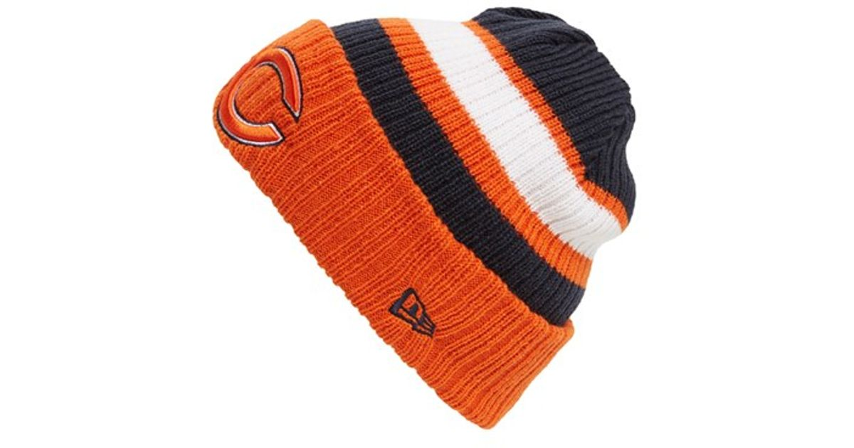 the best attitude b1ce1 cb552 discount code for ktz rib start chicago bears knit hat in blue for men lyst  7dcb9