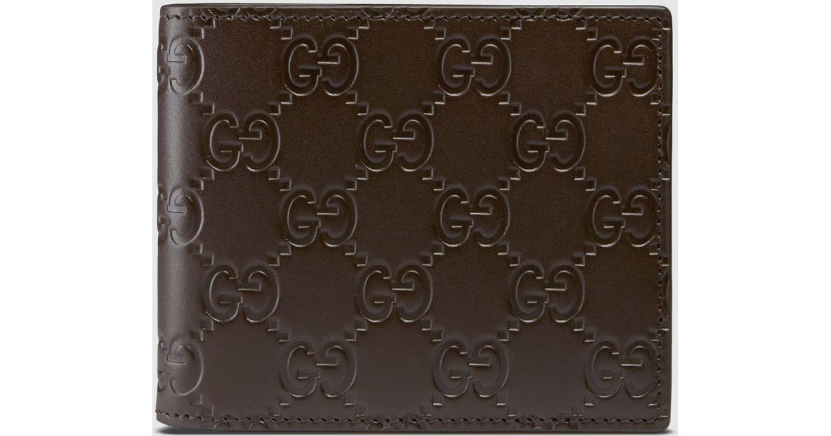 47c6db0566b Lyst - Gucci Signature Money Clip Wallet in Brown for Men