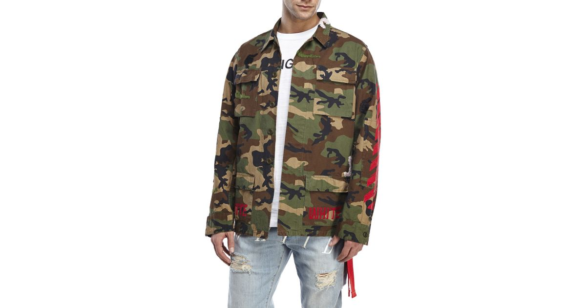 Lyst Off White Co Virgil Abloh Embroidered Camouflage Field