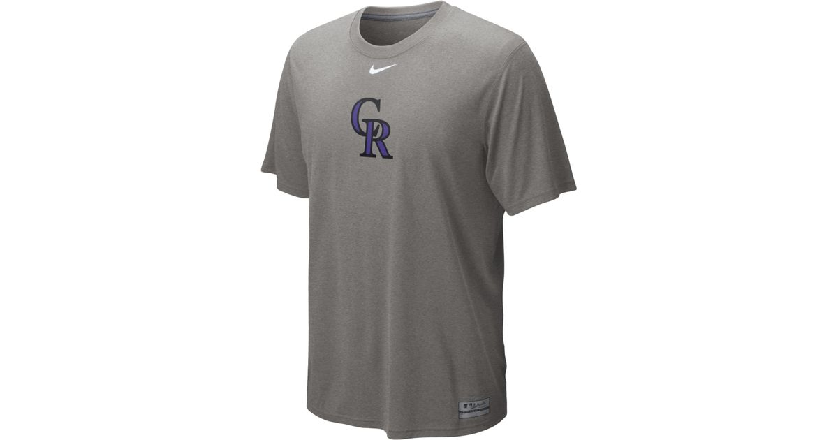 6f0068b4 Lyst - Nike Men's Short-sleeve Colorado Rockies Dri-fit T-shirt in Gray for  Men