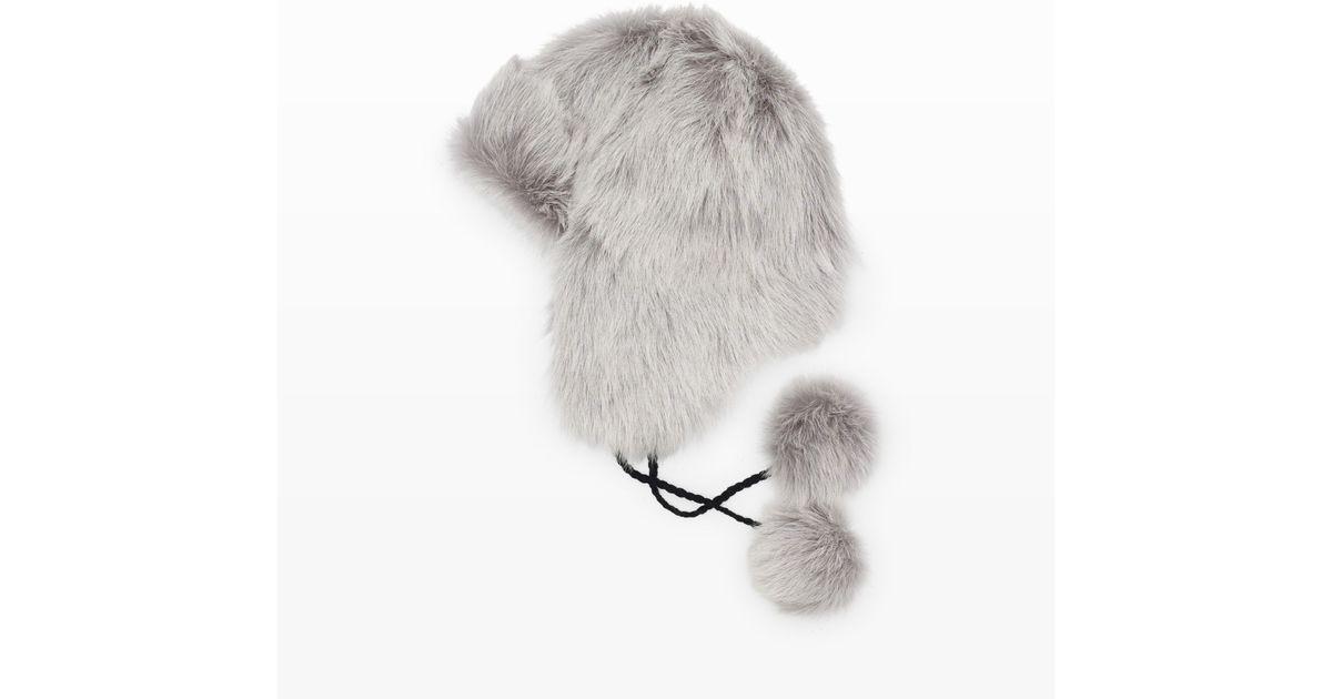 Club monaco Zelphia Shearling Trapper Hat in Gray | Lyst