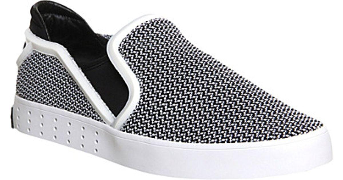 510c28cf58239 adidas y3 laver slip on white sneakers uk  y 3 y3 laver slip on shoes for  men in black for men lyst