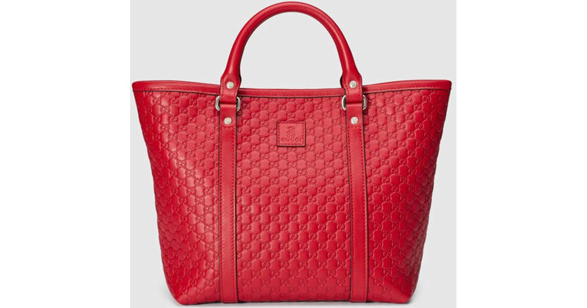 dcba9ec9f3e Lyst - Gucci Children s Microguccissima Tote in Red