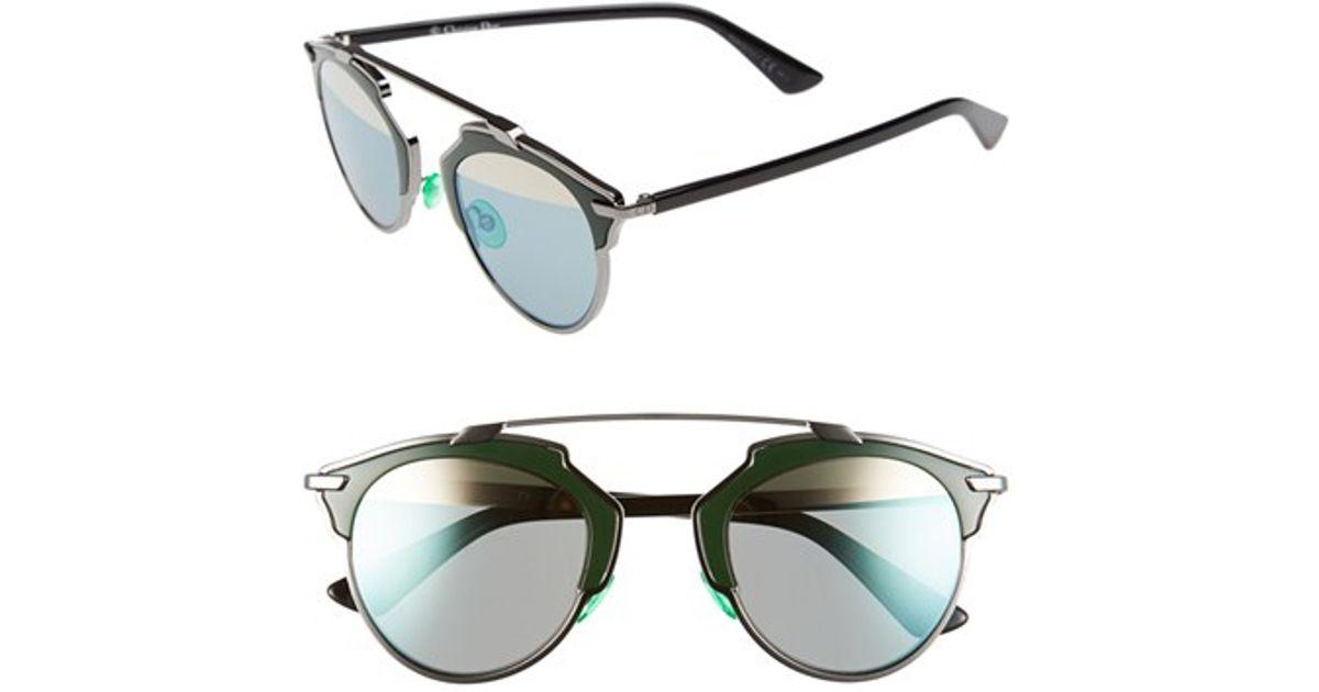 e58d125128c Lyst - Dior So Real 48mm Brow Bar Sunglasses - Palladium  Tortoise