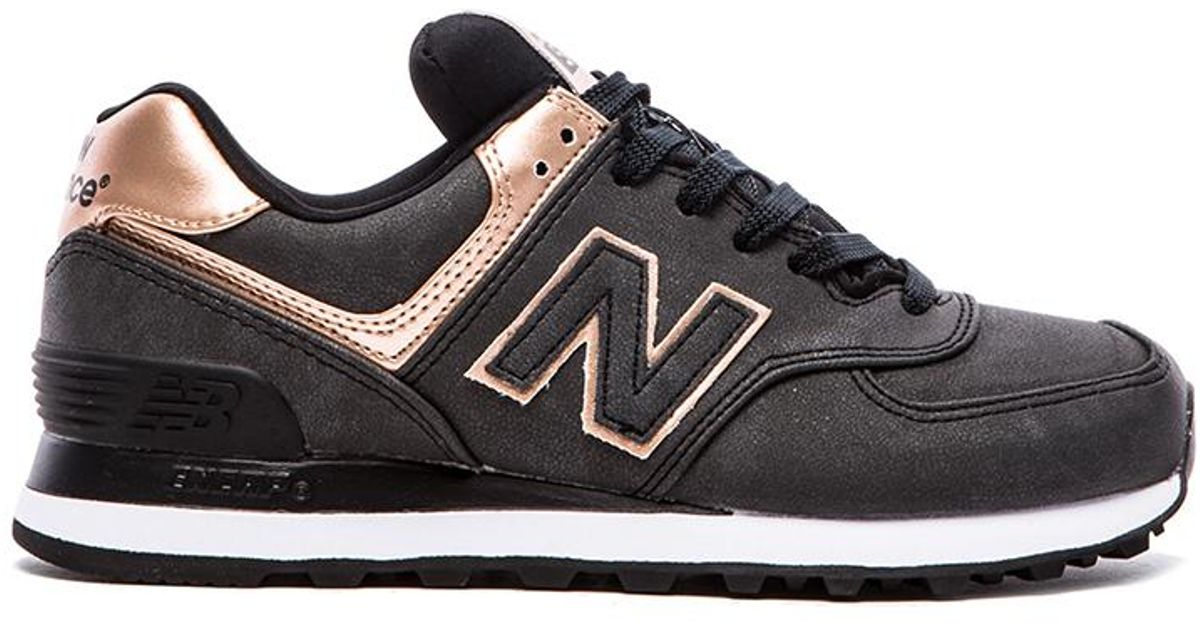 check out eca9b 5baaa Lyst - New Balance 574 Precious Metals Collection Sneaker in Natural