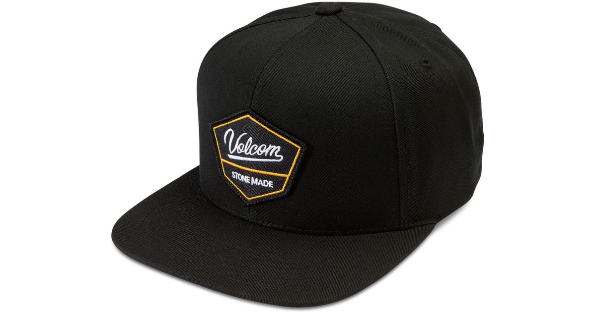 Lyst - Volcom Men s Cresticle Snapback Logo Hat in Black for Men ca7461bec4a