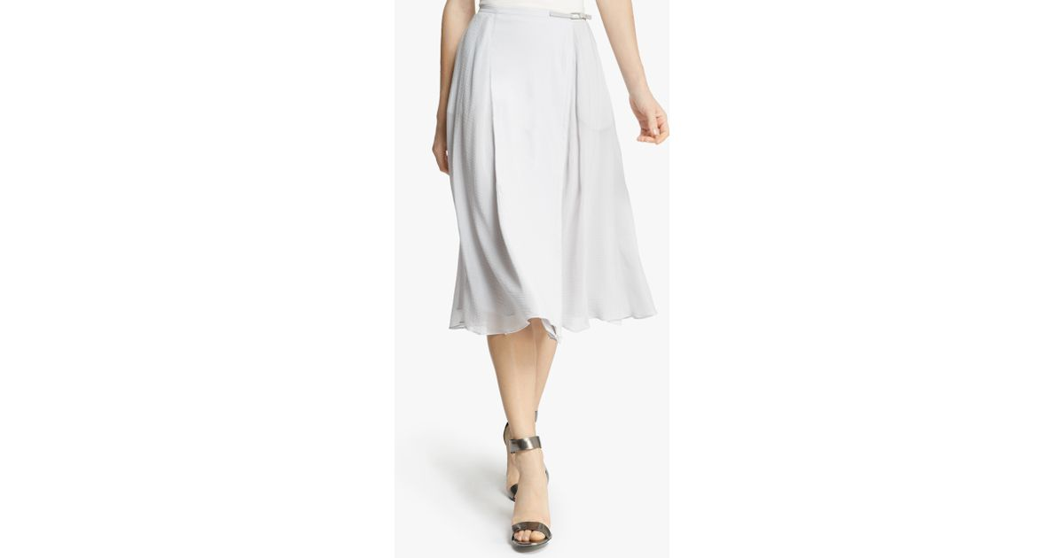 midi flowy skirt in white vapor lyst