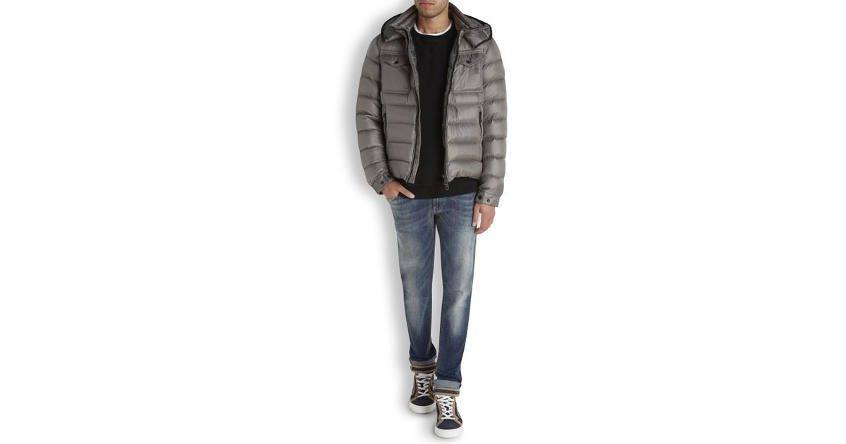 Moncler edward Padded Jacket Dark green; Moncler Edward Grey Quilted Jacket in Gray for Men | Lyst