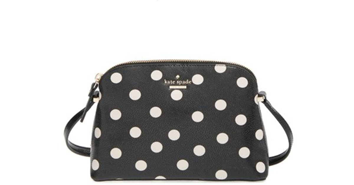 Lyst kate spade new york cedar street dot mandy crossbody lyst kate spade new york cedar street dot mandy crossbody bag in black junglespirit Gallery