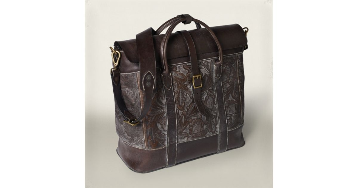 8650413556 Lyst - RRL Leather Galway Bag in Brown for Men