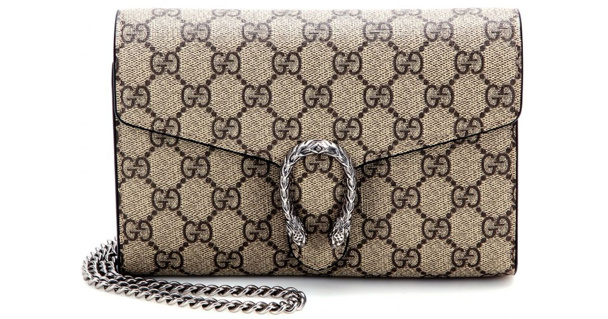 4b4e2d7e9c Gucci Dionysus GG Supreme Shoulder Bag in Natural - Lyst