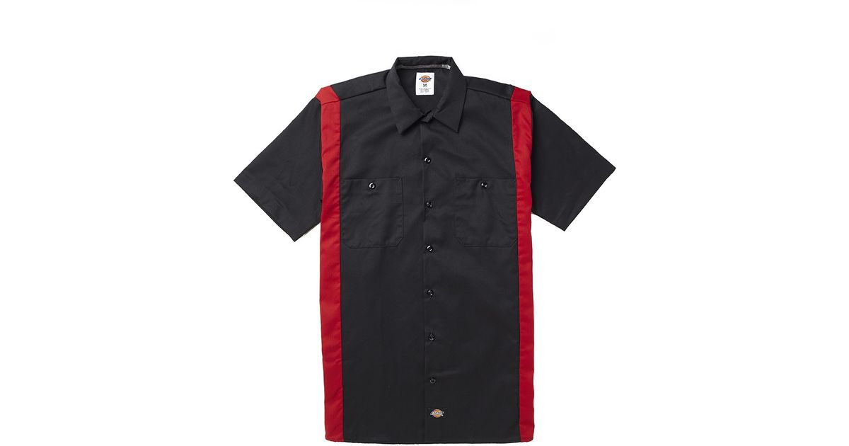 9e55d51951ad Lyst - Dickies Ws508 Two Tone Work Shirt in Black for Men
