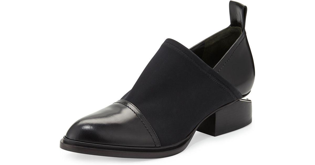 wang kori stretch neoprene leather shoe in