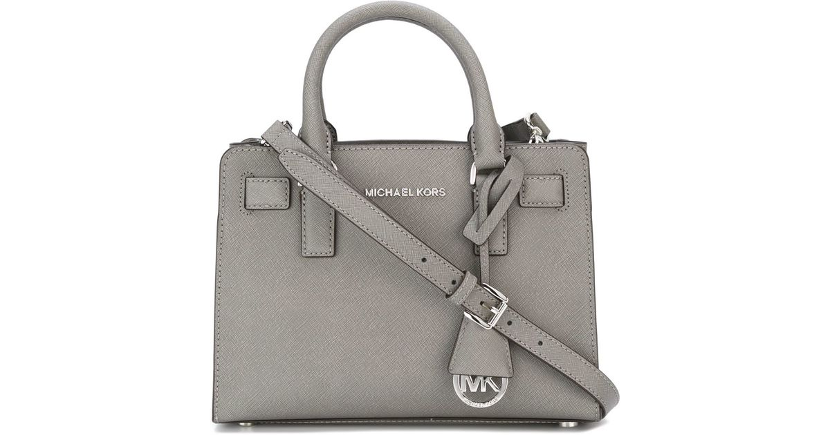 c52eda568545 ... hot michael michael kors small dillon tote in gray lyst 44217 a7da9