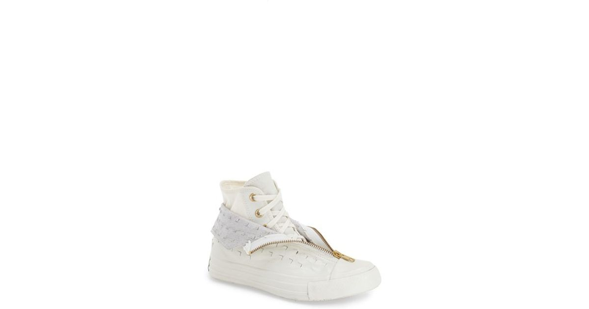 df906575d6f267 Lyst - Converse Chuck Taylor All Star  shroud  Perforated High Top Sneaker  in Natural