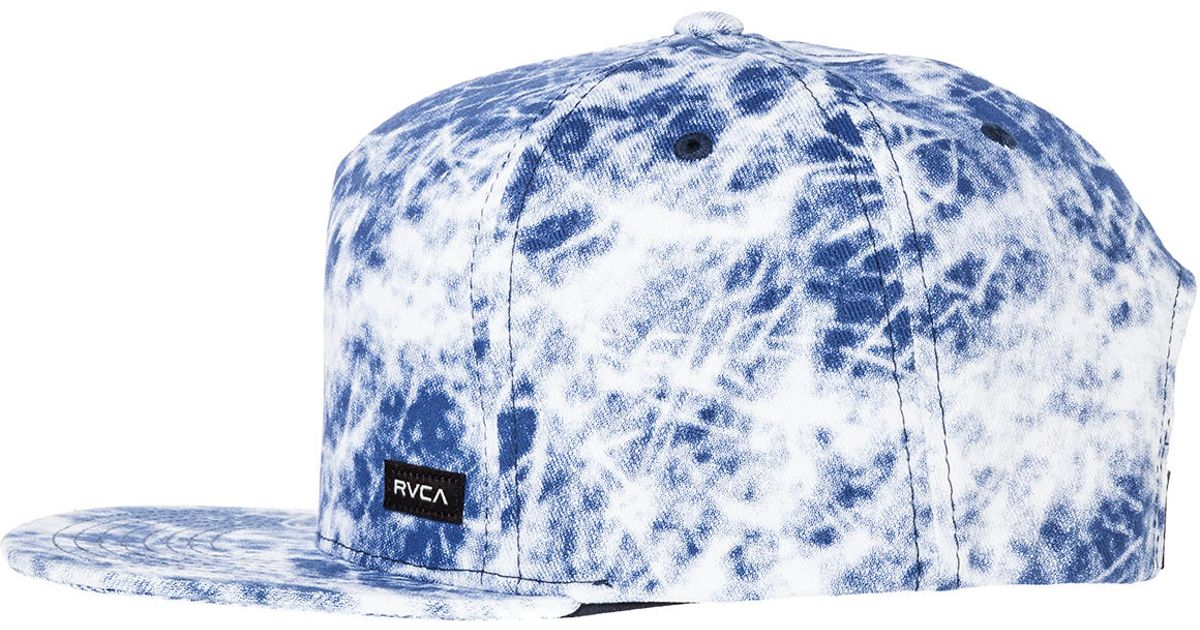 Lyst - RVCA The Delux Snapback in Blue for Men 207f553ab06
