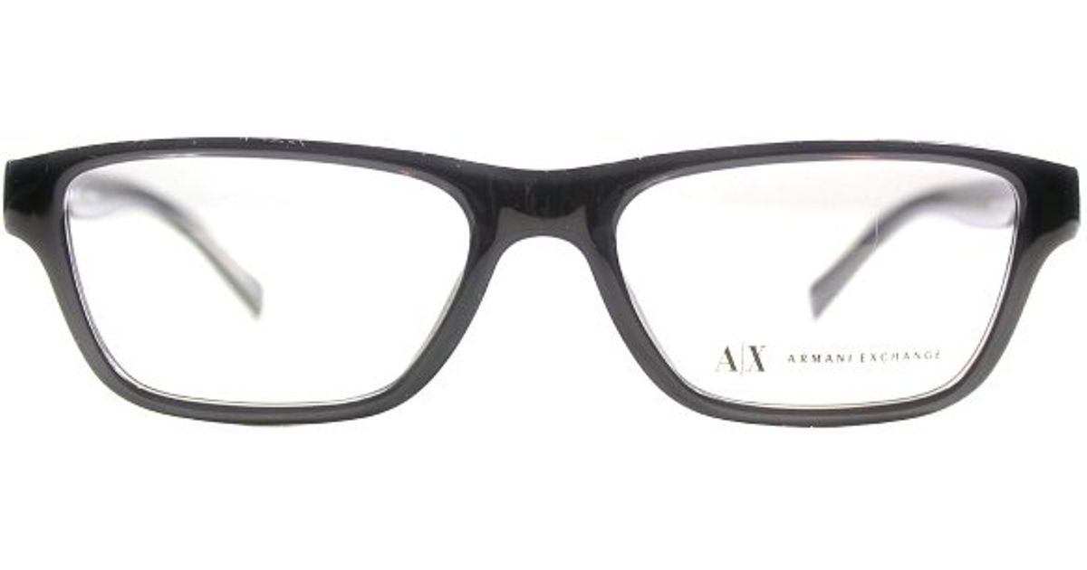 Armani Eyeglass Frames 2015 : Armani exchange Ax 3014 8005 Transparent Black Rectangle ...