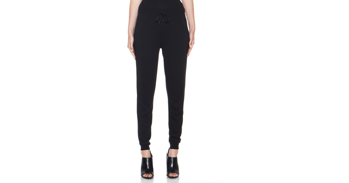99464f7c5cb33 T By Alexander Wang Lightweight French Terry Sweatpants in Black - Lyst