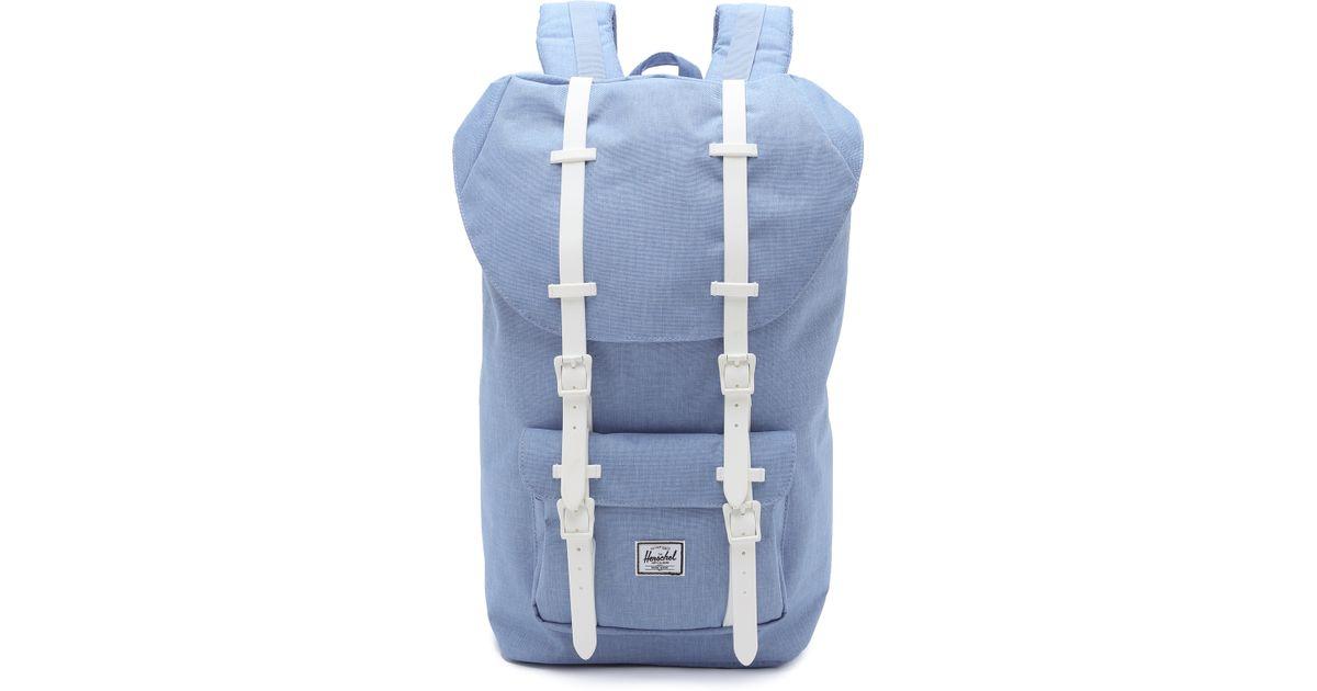 7d2c360e1c Lyst - Herschel Supply Co. Little America Backpack - Chambray in Blue