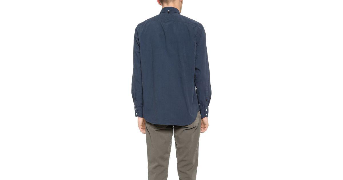 Rag Bone Standard Issue Shirt In Blue For Men Lyst