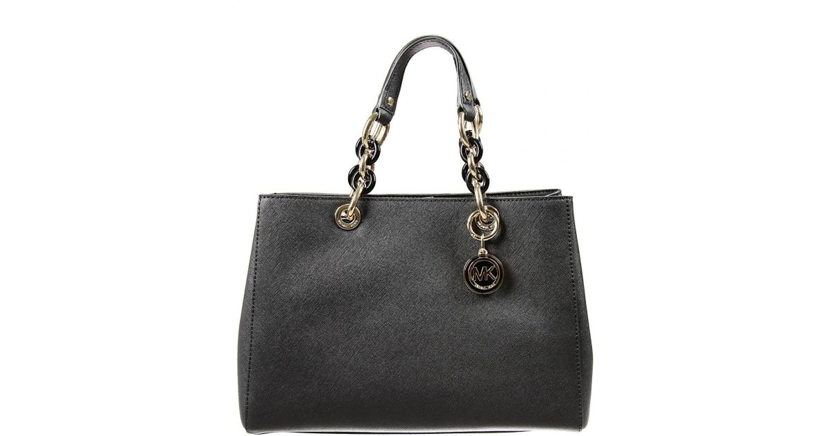 Michael Kors Cindy Laukku : Michael kors cynthia satchel in black lyst