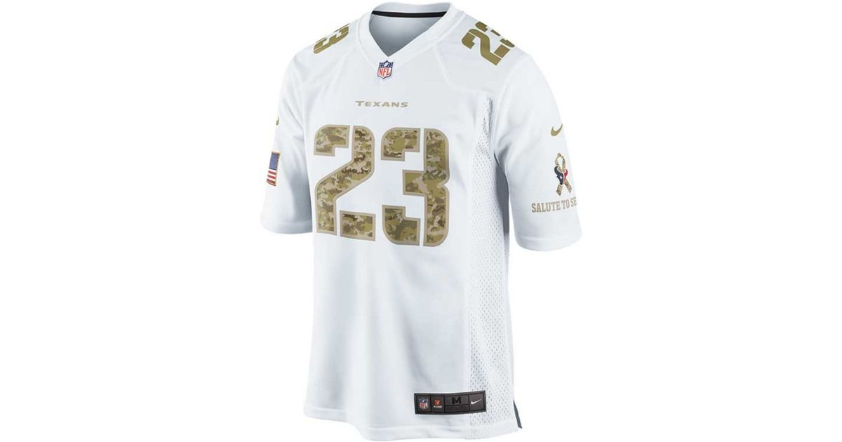 Hot Nike Arian Foster Houston Texans Jersey in White for Men Lyst  for cheap