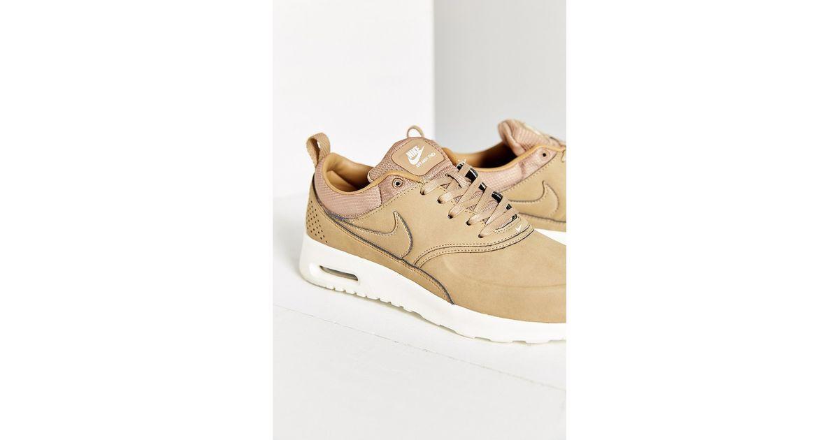 a95c52f2c136 ... buy lyst nike air max thea premium sneaker in brown a6ef7 71716