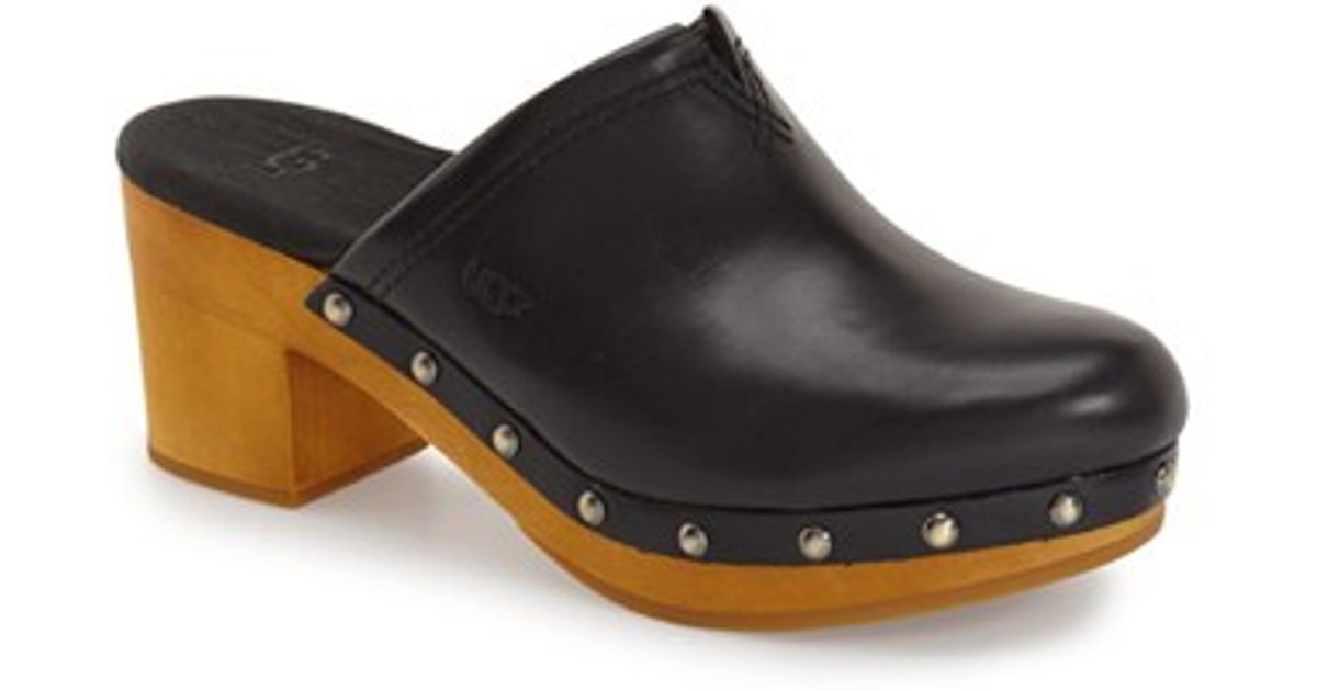 Ugg Kay Leather Clogs In Black Lyst
