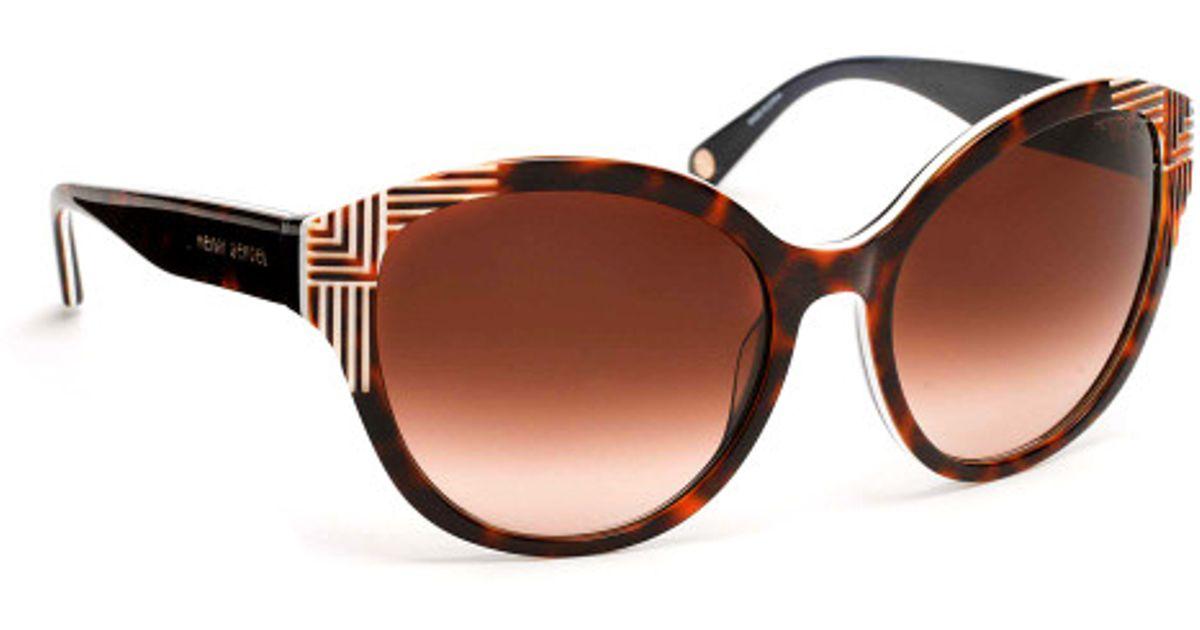 b3dadeb8919 Lyst - Henri Bendel Mademoiselle Sunglasses in Brown