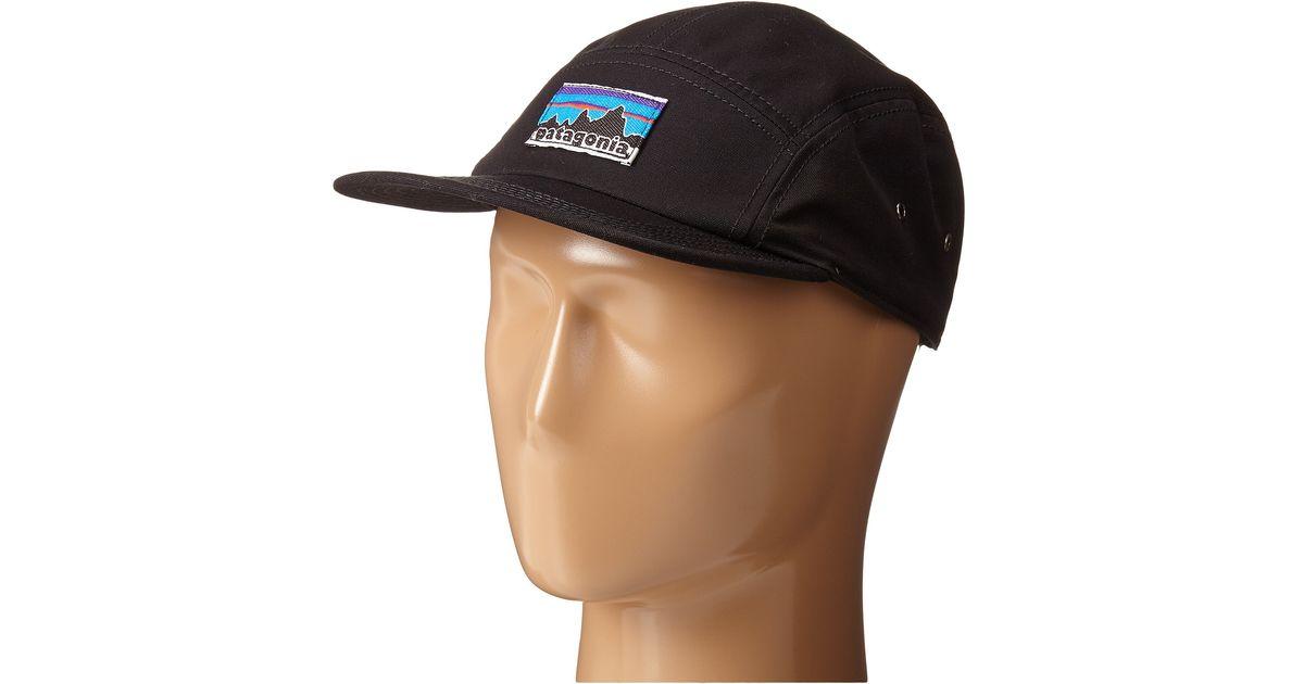 Lyst - Patagonia Retro Fitz Roy Label Tradesmith Cap in Black de0b596545b