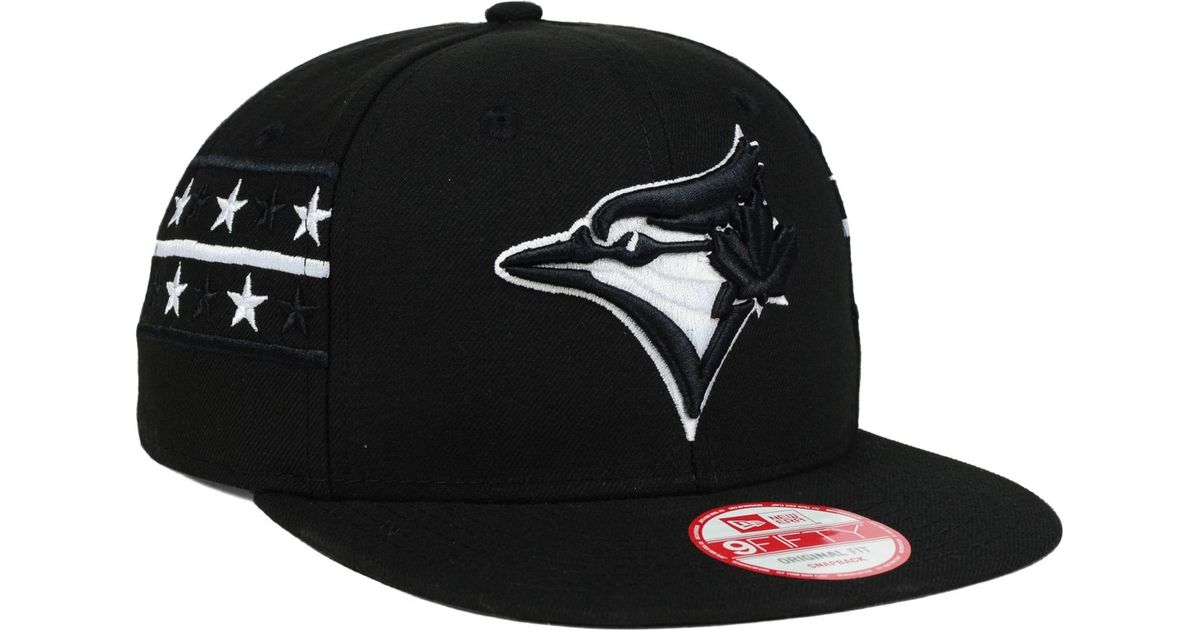 9081920ea ... where to buy lyst ktz toronto blue jays fine side 9fifty snapback cap  in black for